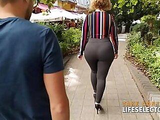 POV porn video of curly and curvy blonde MILF superstar Sara Jay