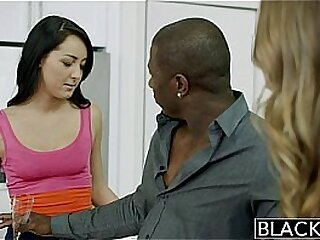 BLACKED Two Girlfriends Jillian Janson and Sabrina Banks Share a Huge Black Cock