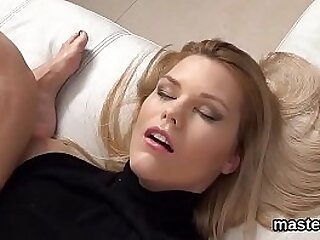 Bizarre pussy stretching and orgasm for big boobed european doll