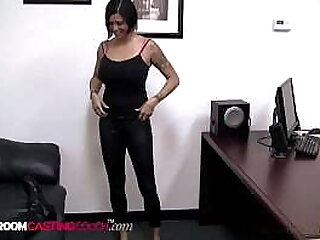 In her pussy, In her mouth & up her butt! Thick chick Harmony is one tanned tart! Pierced, tattooed & willing to take a cock in her ass, puts her on our A-List! Full Video at BackroomCastingCouch.com!