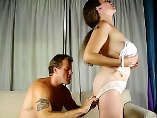 Mature lady fucking with young lover