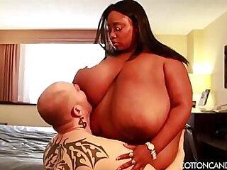 Huge Tit Ebony MILF BBW s. White Cuckold Fan