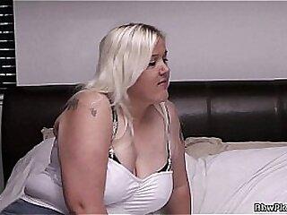 Sexy blonde bbw pick up