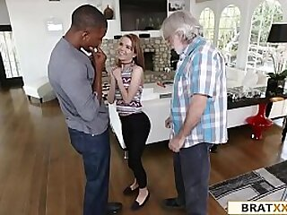 Small Teen Has To Fuck Loan Shark To Help Her Dad
