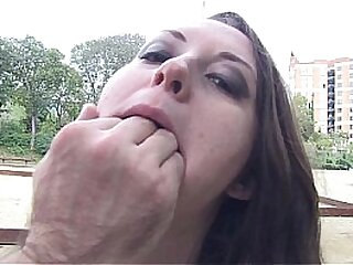 Busty and curvy spanish babe on her first time sex with a camera