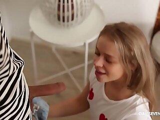Amazing blonde teen gymnast fucked hard and good