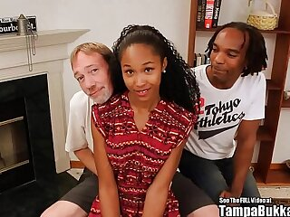 Tampa Bukakke Girls - 18yo black teen cheerleader fuckee suckee!
