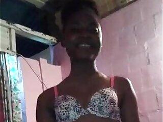 Trinidad teen sucking and riding cock ze