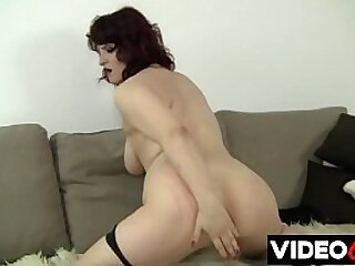 Free porn movies - Sexy busty cougar likes to get great pleasure from passionate masturbation